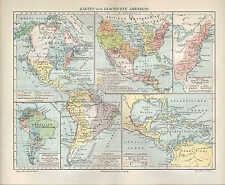 Carte MAP 1905: cartes sur l'histoire de l'Amérique. Amérique America usa History