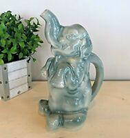 Vintage Majolica Ceramic Figural Seated Begging Elephant Pitcher