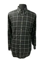Jos A. Bank Mens Button Down Front Shirt Travelers Collection Black Sz Large