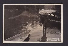 Malaya Malaysia 1900? Vintage Real Photo Postcard Malay Casting Fishing Net