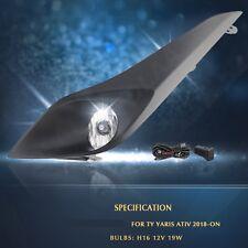 Bumper Fog Lamp Cover Spot Light For 2017 ~ 2018 Toyota Yaris Sedan Ativ /1Set