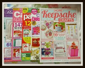 Lot Of Mainly Christmas Craft & Cardmaking Magazines Including Hunkydory