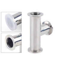 KF-25 Tri Clamp Tee 3 Way Vacuum Fitting Stainless Steel SS304