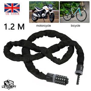1.2M Combination Number Bike Lock Bicycle Motorcycle Heavy Duty Security Padlock