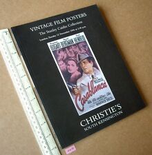 Casablanca Bogart Cover Vintage Hollywood Posters Christie's London 1996