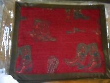 Western Placemats Boots Design Red 16x20 Set of 6 Western Home Office Trailer