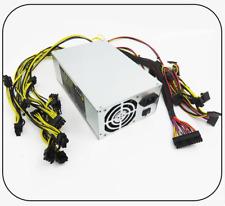 1800W ATX Computer PC PSU, Dual Fan, Gold Mining Machine Switiching Power Supply