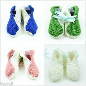Crochet baby booties shoe knitting shoes for baby girls/boys Newborn to 6 Months