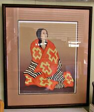 "R. C. Gorman, Pencil Signed & Numbered Ltd. Ed. ""Chief's Blanket"" State II"