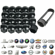 20x 17MM Genuine AUDI Alloy Wheel Bolt Nut Caps Covers w/ Removal Tool Black UK