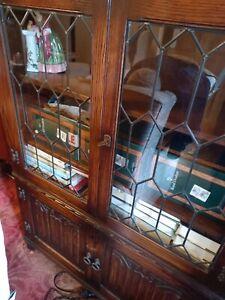 Jaycee Linen Fold Book Case with Doors