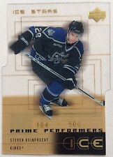2000-01 STEVEN REINPRECHT UD ICE PRIME PERFORMERS GOLD RC #57 LA KINGS #164/500