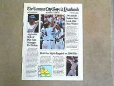KANSAS CITY ROYALS BASEBALL YEARBOOK - 1992 - NEAR MINT