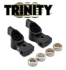 """Trinity XRAY T4 Aluminum Rear Hubs(2) Black w/Bearings(4) """"2"""" Degree TEP3068"""