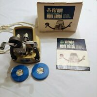 VERNON 101 DUAL 8 Super 8 Movie EDITOR Vintage W/ Box & Manual