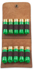 Leather Shell Cartridge Holder, pouch for belt, ammunition, hunting, rifle, ammo