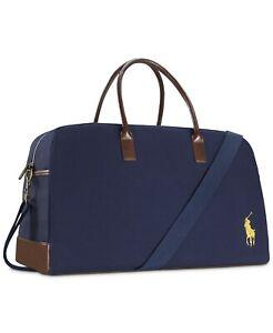 RALPH LAUREN polo fragrances blue duffle weekender carry on travel gym hand BAG!