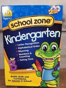 School Zone Kindergarten  ABC Time Numbers ~ Software Age 4-5 Homeschool