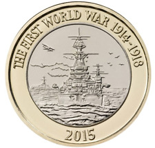 2015, First World War, Navy, Rare, £2 Coin, Circulated,  FREE POST