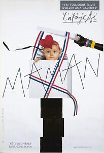 Original Vintage Affiche Paris Galerie Lafayette Bébé Mama 2000