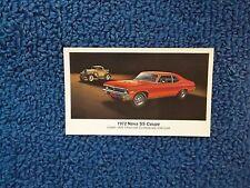 1972 Chevorlet Nova Postcard