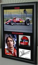 "Gilles Villeneuve  F1 Ferrari Framed Canvas Signed Print ""Great Gift"""