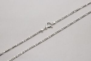 """.925 Sterling Silver Figaro Link Chain Necklace 1mm-17mm Sz 16""""-36"""""""