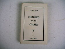 littérature érotique FUREURS DE LA CHAIR 1956 édit C.P.E. PIC