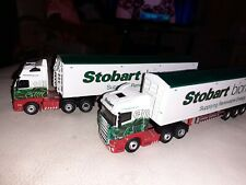 Two Oxford diecast 1:76 eddie stobart with no stand and no boxes