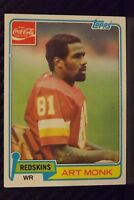 1981 Topps Coke #5 Art Monk HOF ROOKIE Washington Redskins RARE ODDBALL