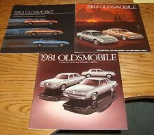 Original 1981 1982 1983 Oldsmobile Cutlass Sales Brochure Lot of 3 81 82 83
