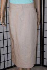 6f6ea02fa3 ANN TRINITY Women s Size 10 Beige Straight Lined Linen Blend Below Knee  Skirt
