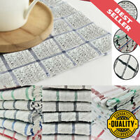 Pack Of 15 Terry Soft Cotton Tea Towels Set Kitchen Dish Cloth Cleaning Drying