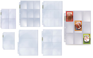 (5) Ultra Pro Pocket Album Pages Fits 3 Ring Binders, Sports Cards Photos Gaming