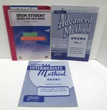 Lot of 3 Drum Instruction Books 2 Rubank Intermediate and Advanced 1 Alfred