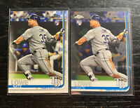 Nate Lowe RC Lot(2) 2019 Topps Tampa Bay Rays Chrome & Flagship