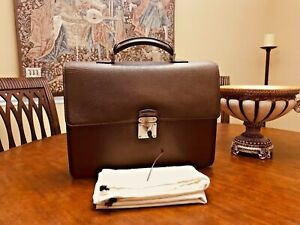 "LOUIS VUITTON  ""ROBUSTO""  Brown Epi Leather Briefcase / Business Bag -  FRANCE"