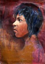 """Yoiler 6B CUBAN FINE ART 27""""x39"""" Original Acrylic Cuban Painting Cuba Political"""