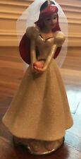 Ariel Glitter Bride Disney Figurine The Little Mermaid Ceramic Wedding Excellent