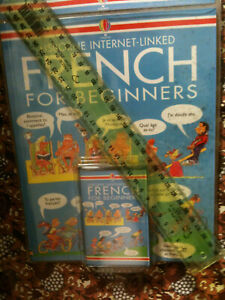 Usborne Internet linked French for Beginners with cassette tape