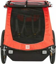 Burley Honey Bee Child Bicycle Trailer-Red-Covered-100lb Capacity-Bike Trailer