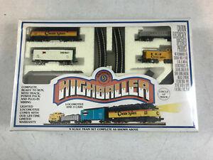 vntg Bachmann Highroller N Scale Lighted Locomotive 3 Cars Track Power Pack NOS