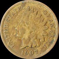 1907 Indian Head Cent, Philadelphia Mint, Collectors Coin