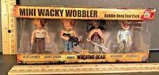 THE WALKING DEAD 4 pc Mini Wacky Wobbler RICK DARYL MICHONNE RV WALKER FUNKO NIB