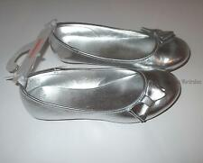 Gymboree Bright Ideas Center Stage Play by Heart Silver Flats Shoes Girls 1 NEW
