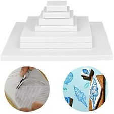 Cren 8 Pack White Rubber Carving Blocks Printing Linoleum Soft Craft Tools For