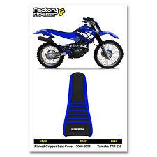 2000-2004 YAMAHA TTR 225 Blue/Black/Blue RIBBED SEAT COVER BY Enjoy MFG