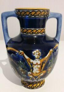 Vintage Gien France Renaissance Pattern small Urn / Vase