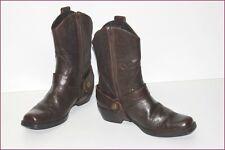 BRUNO PREMI Bottines boots Cuir Marron T 35 TBE