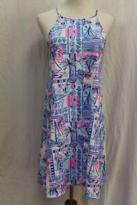 NWT Lilly Pulitzer Margot Whisper Blue Yeah Buoy Dress S Small
